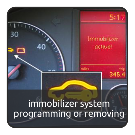immobilizer system programming or removing